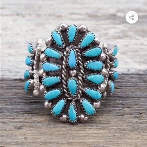 Native American Zuni Turquoise Blossom Ring